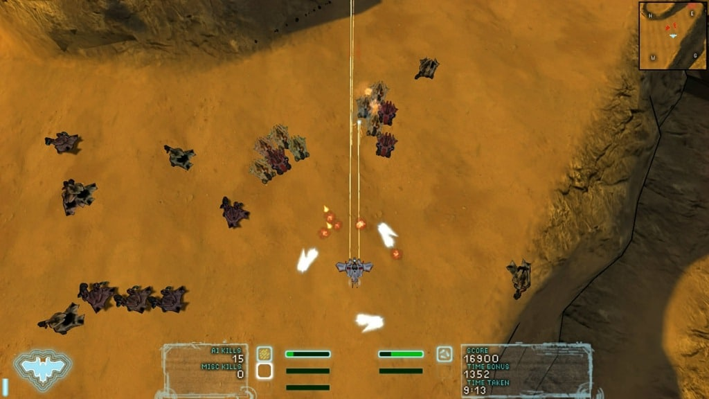 Screenshot of the Storm Shield in action in Steel Storm.